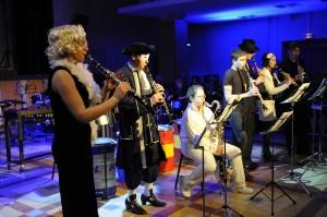 L'ensemble de clarinettes à la salle des fêtes en 2013